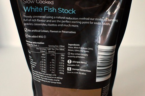 Woolworths white fish stock nutrition information