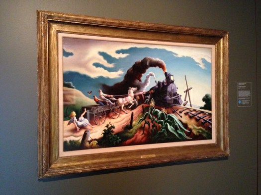 The Wreck of the Ole '97 by Thomas Hart Benton