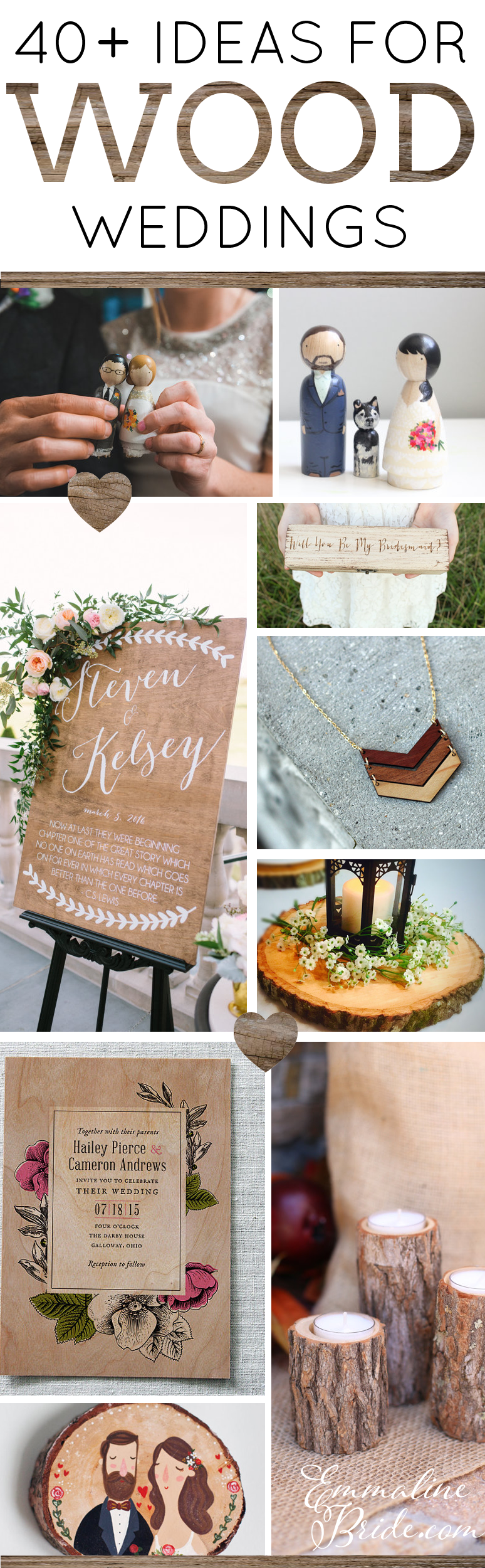40+ Wood Themed Wedding Ideas by Emmaline Bride | http://emmalinebride.com/themes/wood-themed-wedding-ideas/