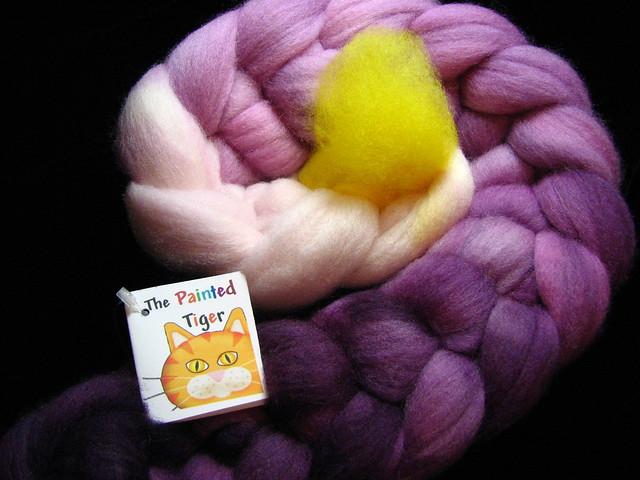 Calla Lily - April Tiger Club - Falkland Wool Combed Top