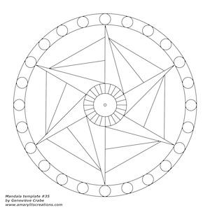 Mandala template 35