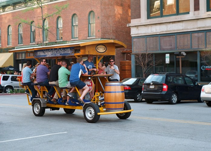 Pedaling for beer