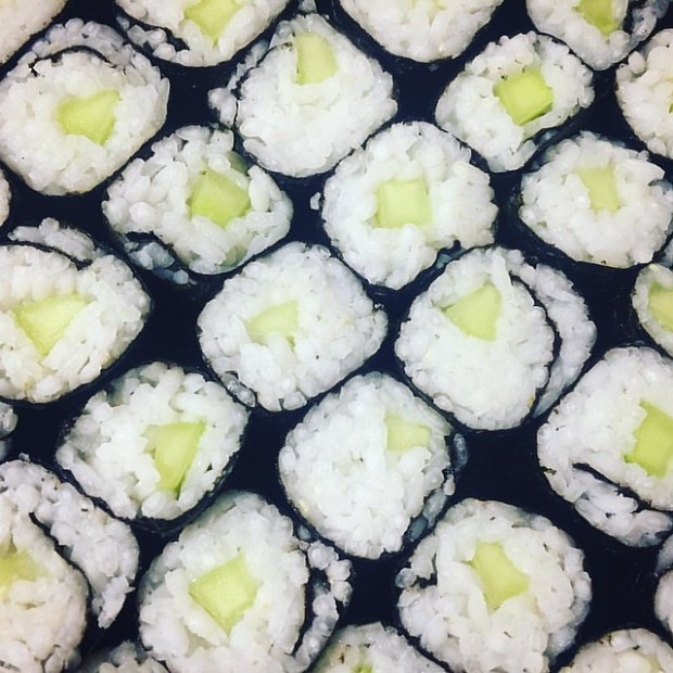 kappamaki o sushi maki de pepino