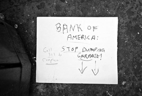 """""""Bank-Stop Dumping Garbage!"""""""
