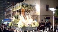 Foto del paso de palio de Ntra. Sra. de la Esperanza de Linares procesionando Carrera Oficial
