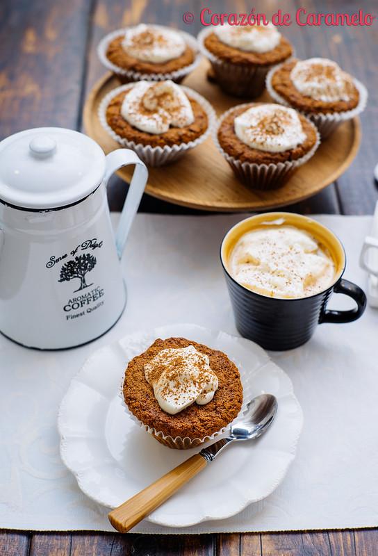 Muffins de café y avena
