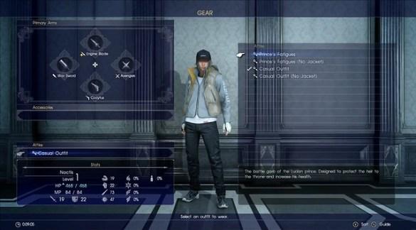 Final Fantasy XV - Customization