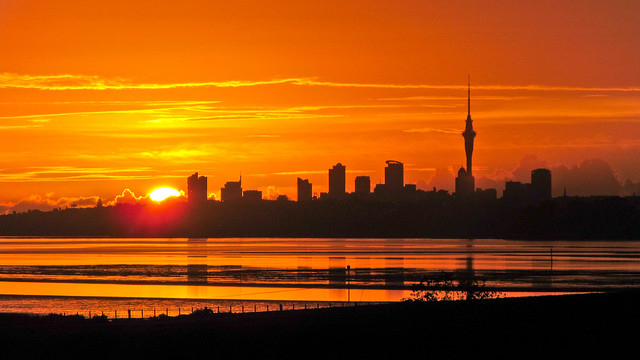 Sunrise over Auckland