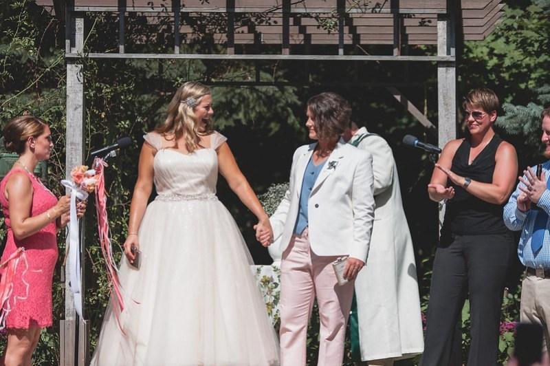 Mrs. & Mrs.! via @offbeatbride