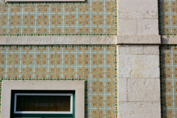 Green and orange azulejos | The Streets of Lisbon | No Apathy Allowed