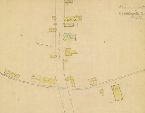 Lowndesville SC Sanborn Map 1915
