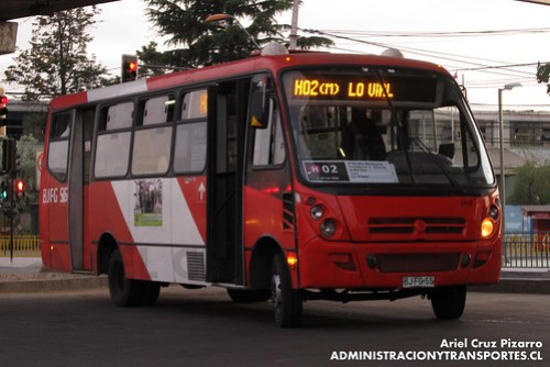 Transantiago - Buses Vule - Caio Foz / Mercedes Benz (BJFG55)