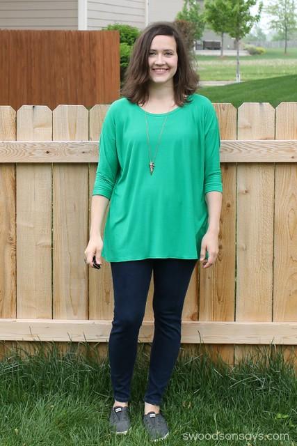 Green Grainline Hemlock Shirt