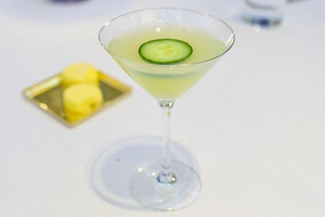 ABSINTHE MINDED Kaffir Lime Vodka, Gin, Lemon Juice, Simple Syrup, Cucumber, Absinthe