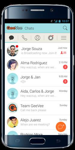 GeeVe funcionando en Android, en este caso; en un Samsung Galaxy S7 Edge.