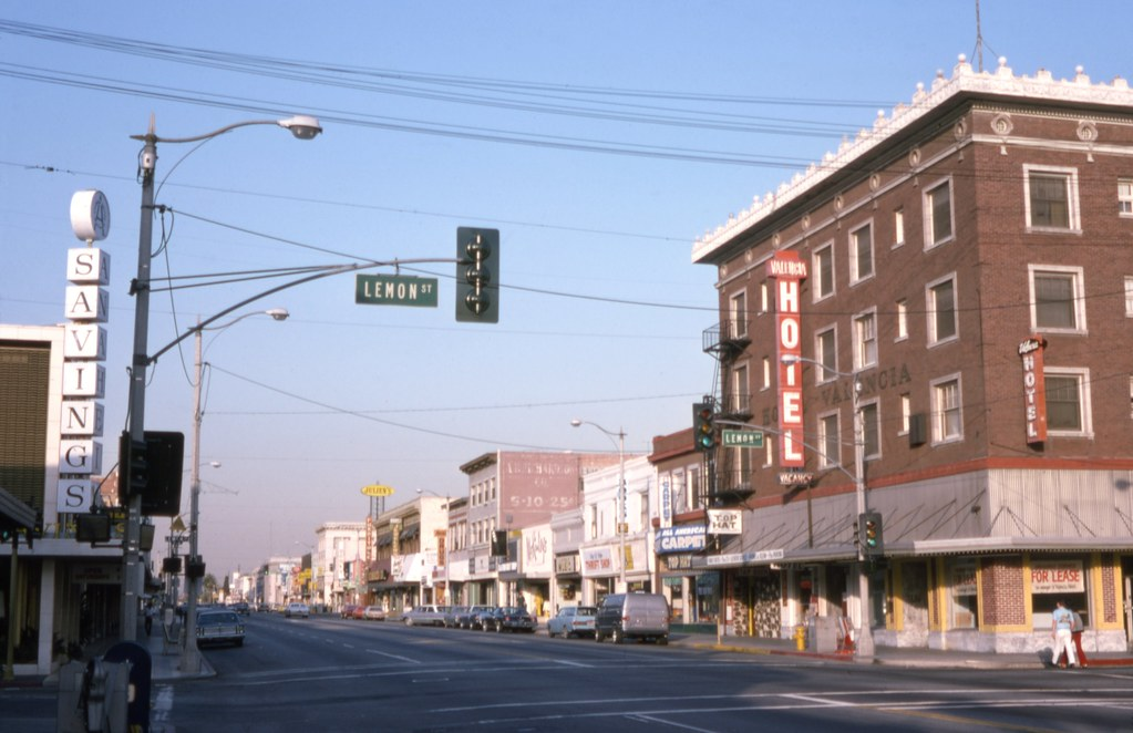 W Lincoln Ave At Lemon St Downtown Anaheim May 1975