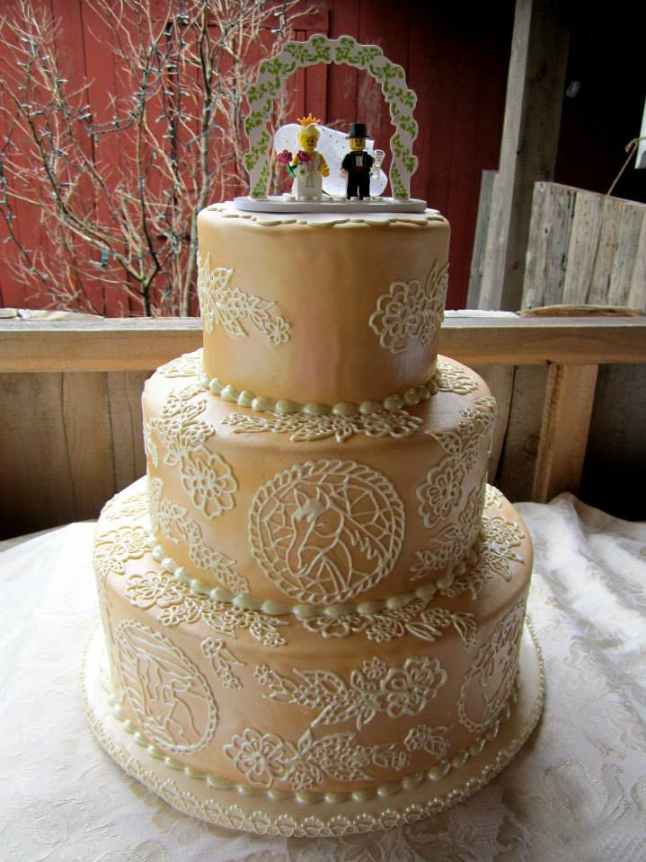 Rustic Lace Wedding Cake The Bride Requested A Lacy
