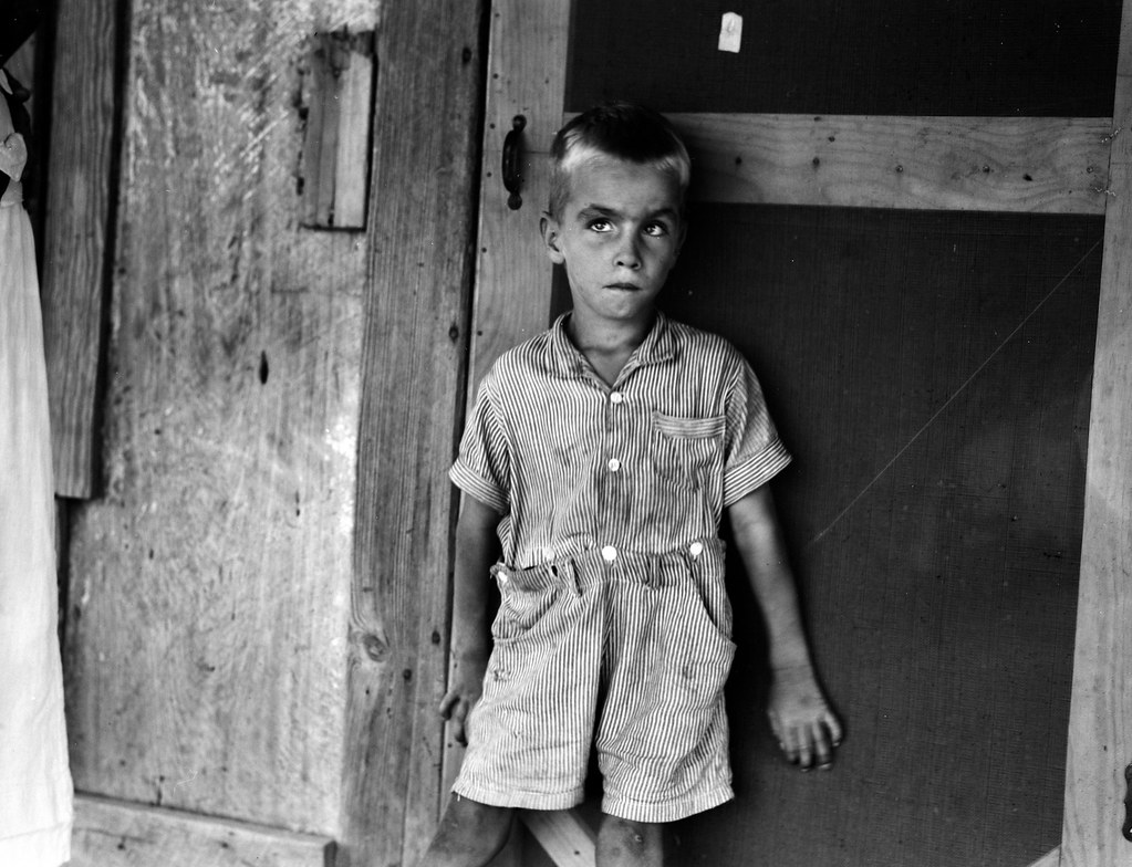 Lange, Dorothea, photographer. Child of sharecropper family near Cleveland, Mississippi. June, 1937.