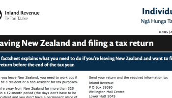 Leaving New Zealand Filing Tax Return – All about New Zealand