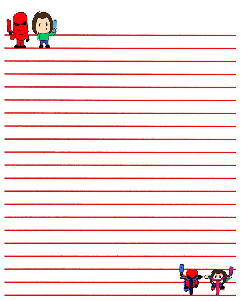 SPWK Pee Wee Paper Cartoon Character Lined Art SD Kid Comi
