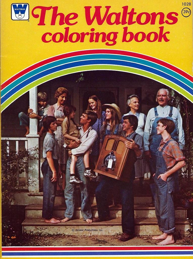 Vintage The Waltons Coloring Book A Whitman Book Copyr Flickr