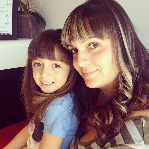Purplemartini562 Mother Daughter Haircut And Style H