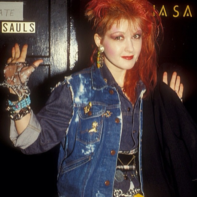 We Love Cyndi Laupers Style In The 80s Seen Here Wearin