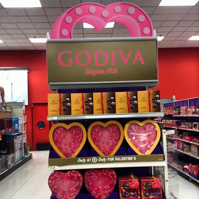 Godiva Chocolate Target Exclusive Chocolates Endcap In Tar