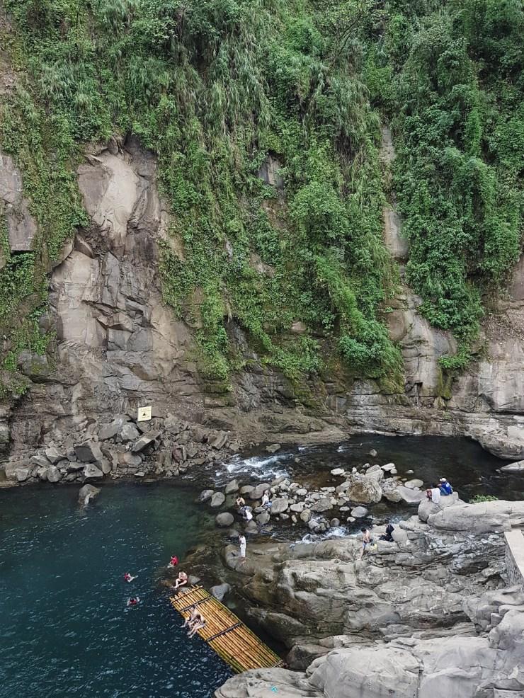 Top view of Tangadan falls