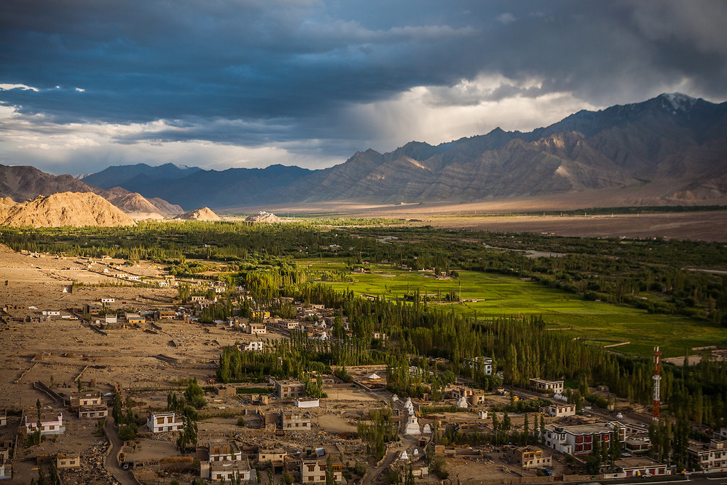 India Aerial View From Thiksey Monastery Leh Ladakh