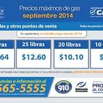 Proteccion al consumidor precios maximo al gas - 08sep14
