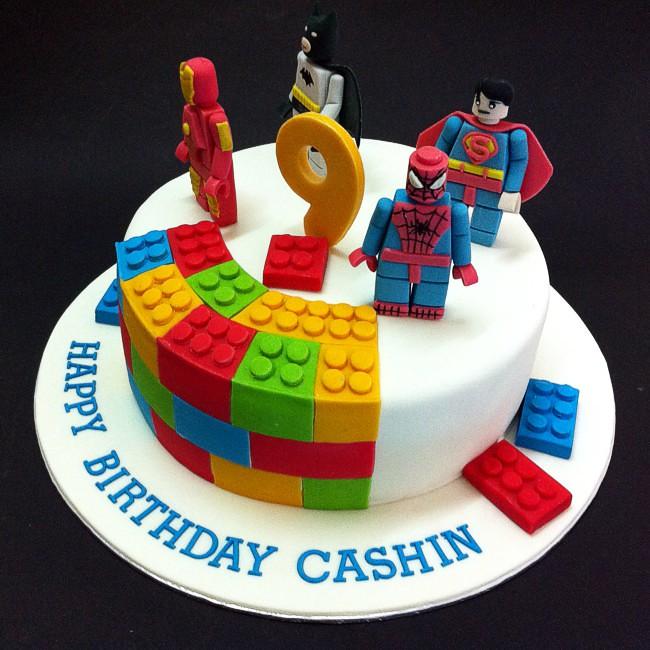 Fondant 3d Lego Marvel Superheros Cakes For Kids