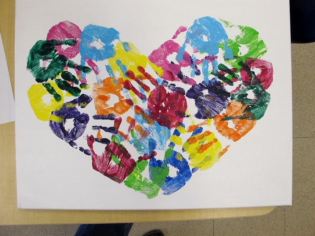 Kindergarten Art Auction Projects Mrs P S Hearts