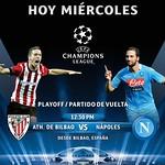 hoy miercoles partido UEFA champions league ATHLETIC de BILBAO vs NAPOLES en vivo