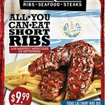 TONY ROMAS promotion all you can eat SHORT RIBS - 09sep14