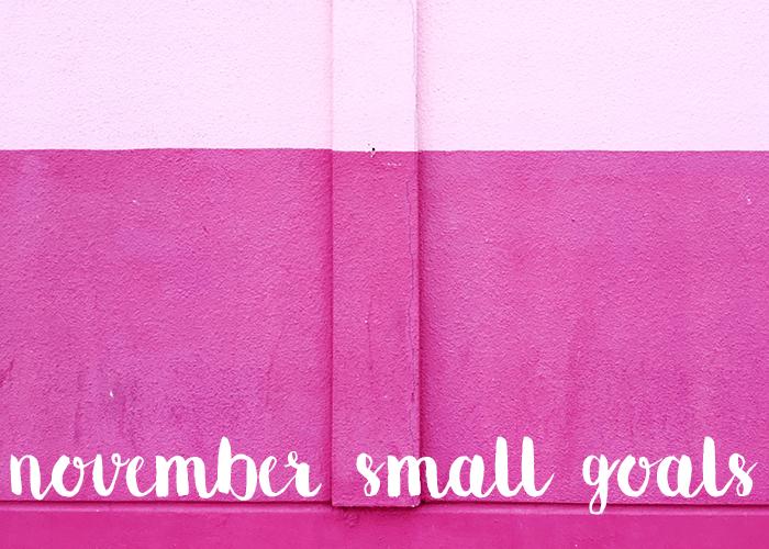 small goals november