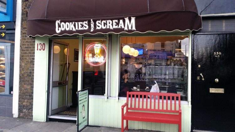 Cookies and Scream's shop front on Holloway Road - Cookies and Scream Holloway