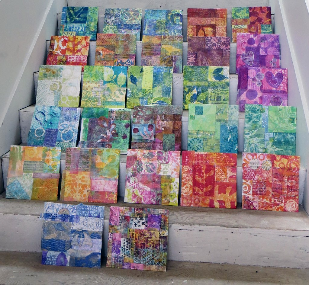 Abstract Collage Class With Gelli Plate Printing Flickr