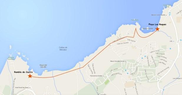 Mapa Los Roques a San Pedro