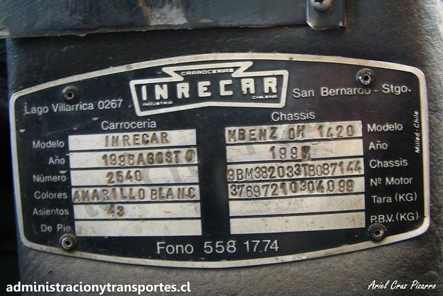 Placa Inrecar Sagitario / NY4071