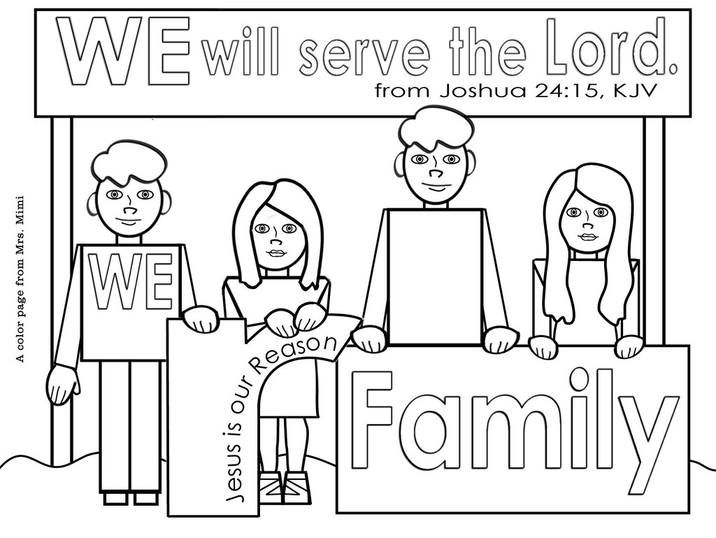 Christian Family Color Pages For Christmas Or Anytime Flickr