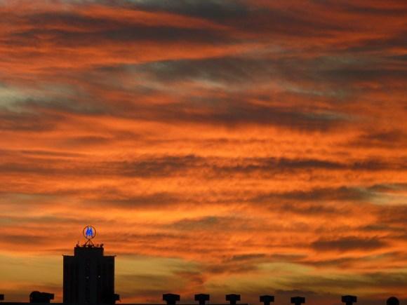 Wolken, Sonnenuntergang, Leipzig