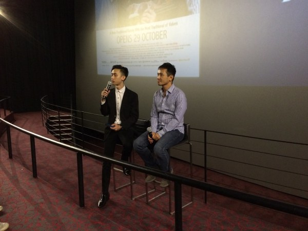 Barney Cheng fielded questions about his film in a Q&A session on the festival's opening night.