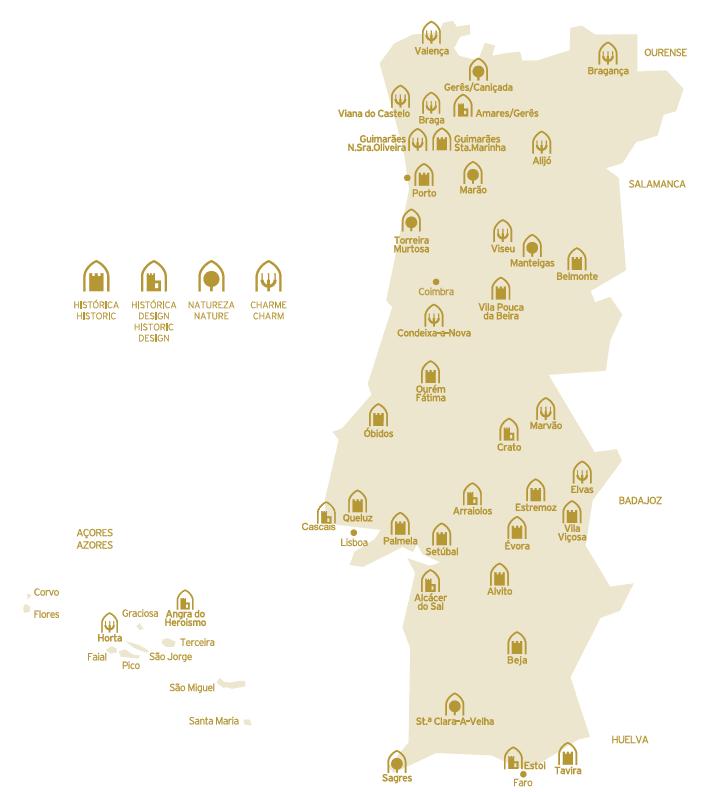 mapa das pousadas de portugal POUSADAS – Amantes de Viagens mapa das pousadas de portugal