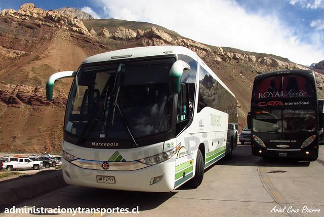 Yanguas | Paso Los Libertadores | Marcopolo Paradiso 1050 - Volvo / GWFZ92