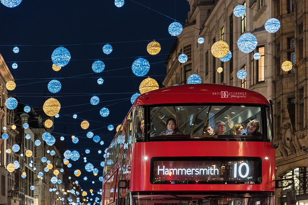 Festive Commute Christmas Lights Regent Street London