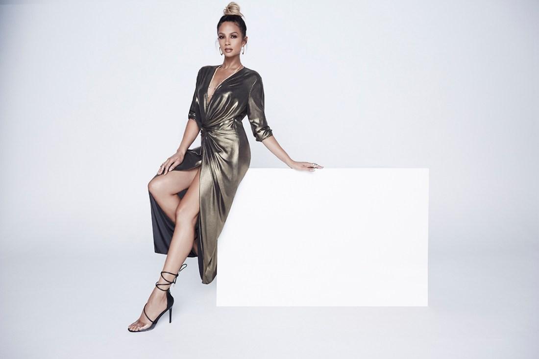 Alesha_Dixon_Plunge_Knot_Maxi_Dress_£89_LittleBlackDress.co.uk-2