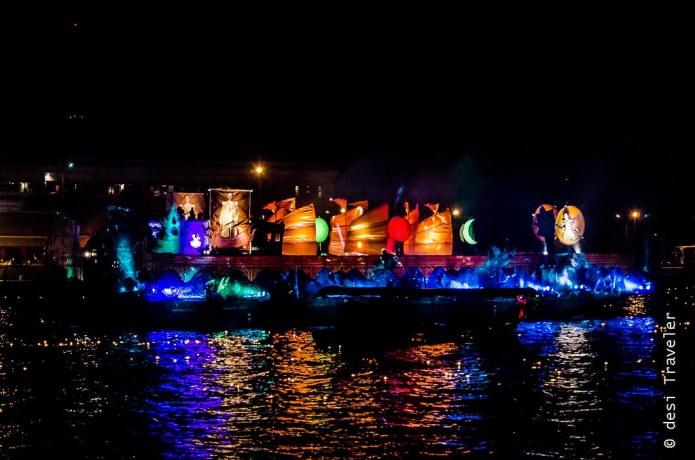 Decorated Barge Loi Krathong Thailand