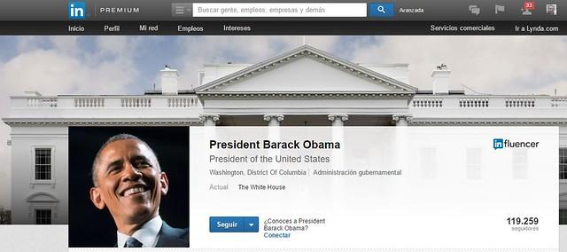 El Presidente Barack Obama, tiene su perfil en linkedin.
