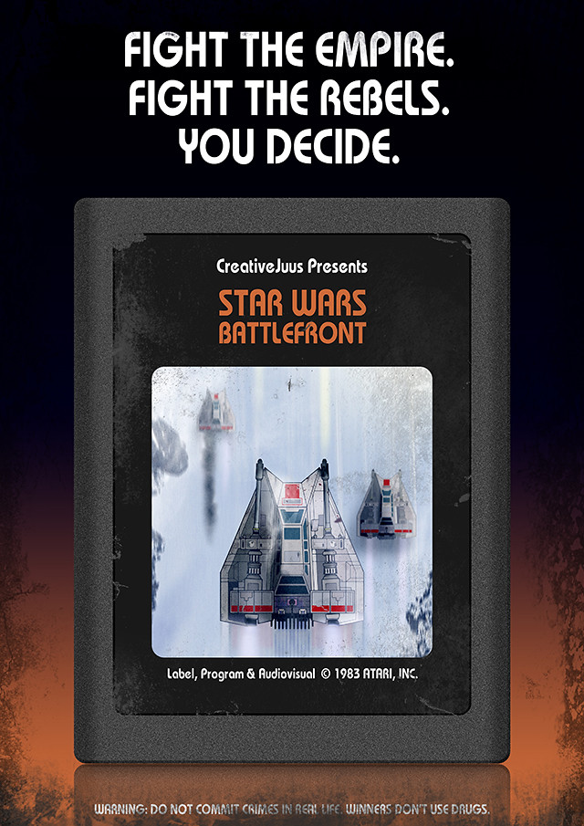Star Wars Battlefront Atari poster
